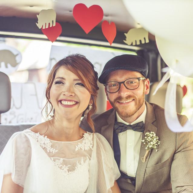 Hochzeitsfotos von Kannika und Flo